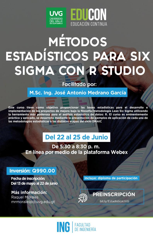 MÉTODOS ESTADÍSTICOS PARA SIX SIGMA CON R STUDIO