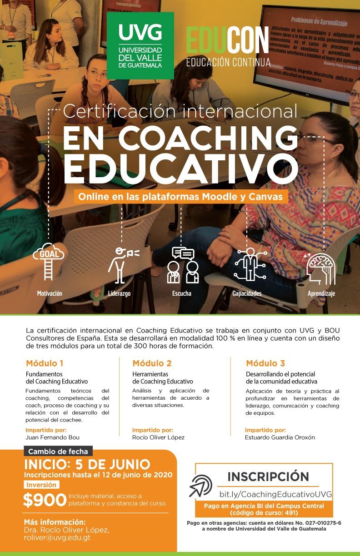 CERTIFICACIÓN INTERNACIONAL EN COACHING EDUCATIVO