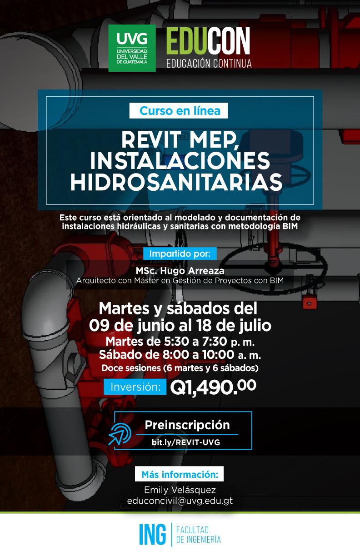 REVIT MEP PARA INSTALACIONES HIDROSANITARIAS