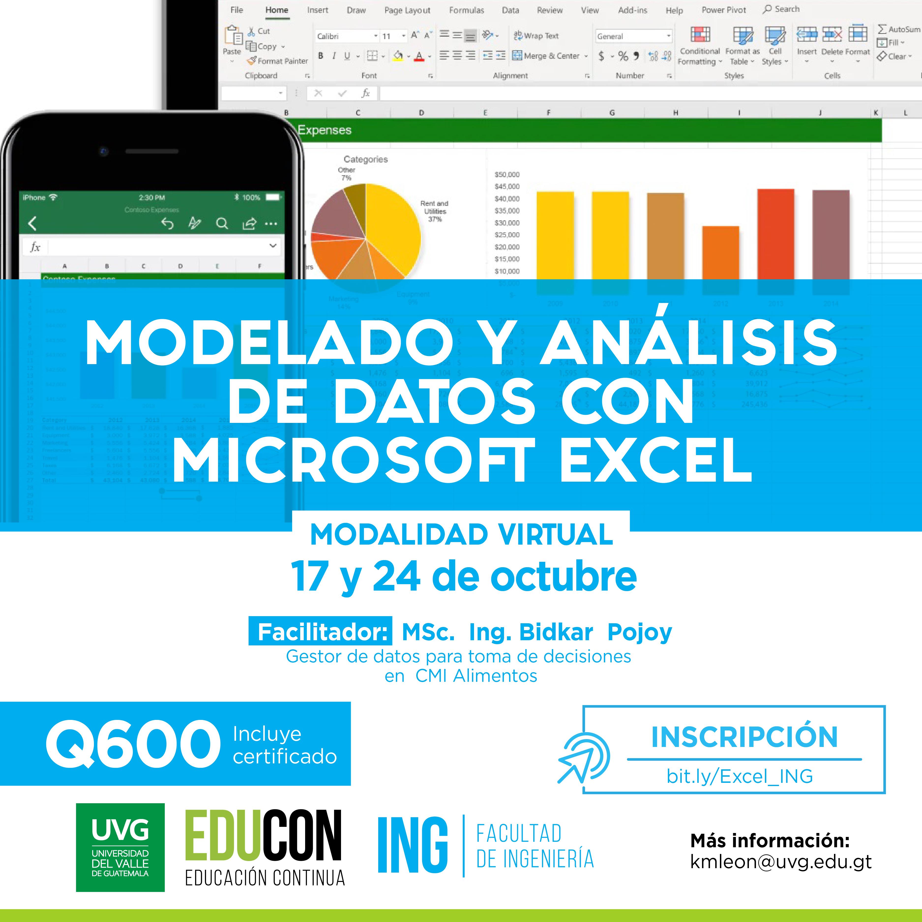 MODELADO Y ANÁLISIS DE DATOS CON MICROSOFT EXCEL