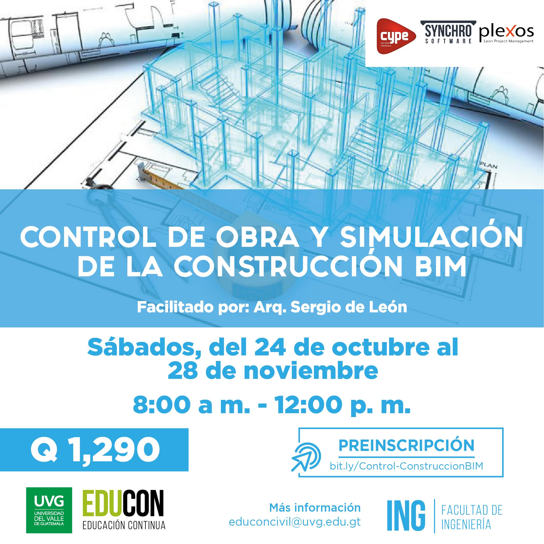 CONTROL DE OBRA Y SIMULACIÓN DE LA CONSTRUCCIÓN BIM