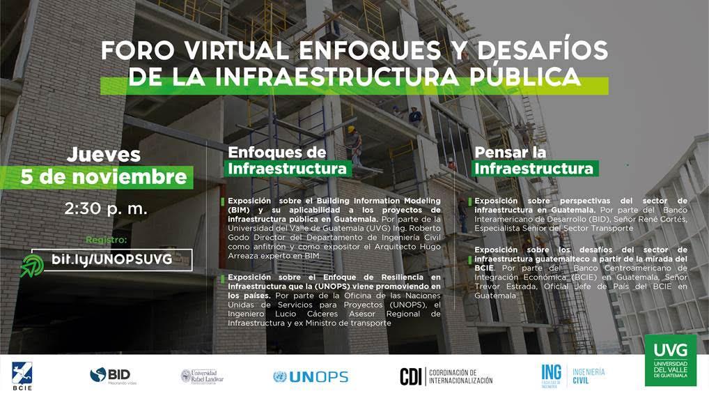 FORO VIRTUAL ENFOQUES Y DESAFÍOS DE LA INFRAESTRUCTURA PÚBLICA