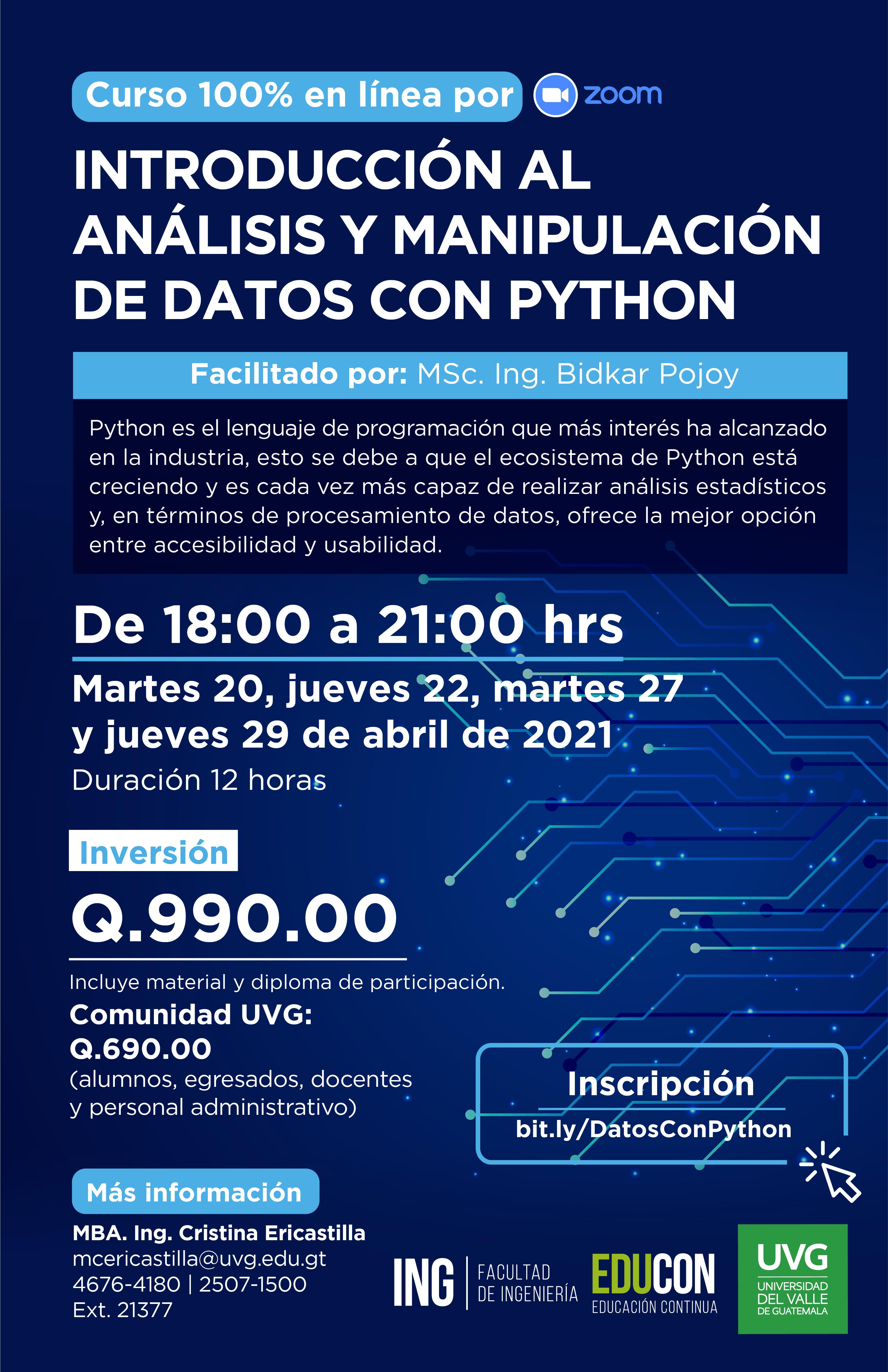 INTRODUCCIÓN AL ANÁLISIS Y MANIPULACIÓN DE DATOS CON PYTHON