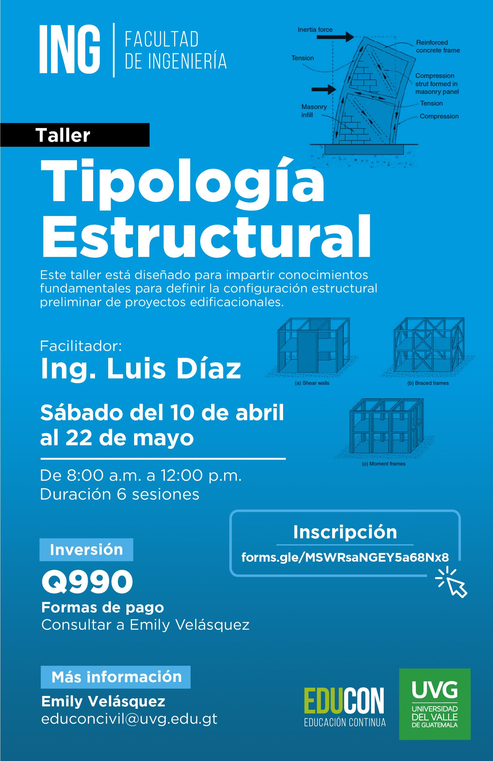 TALLER DE TIPOLOGÍA ESTRUCTURAL