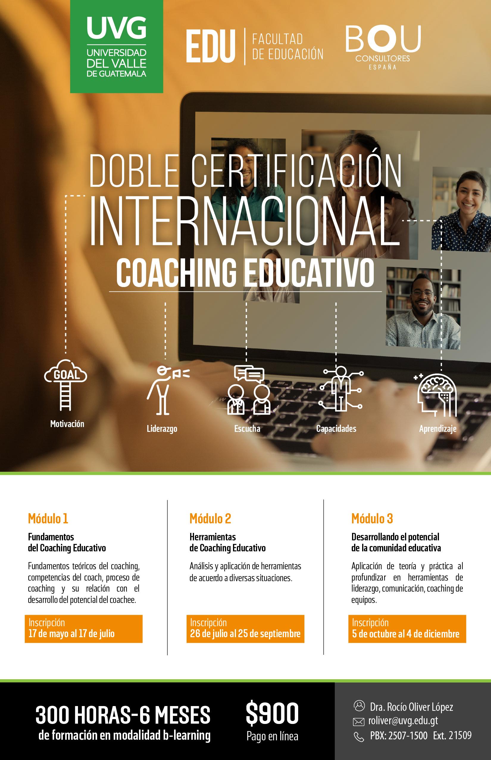 DOBLE CERTIFICACIÓN INTERNACIONAL COACHING EDUCATIVO