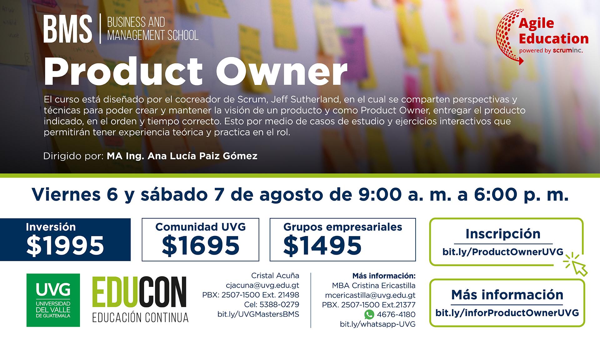 Product Owner por Scrum Inc.
