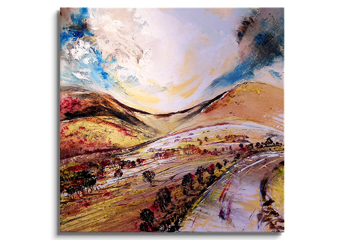 Newlands Pass - Original painting  by Peter Hill