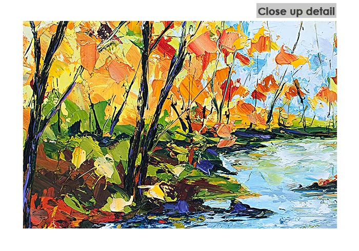 Classic pallet knife print by Joe Armstrong