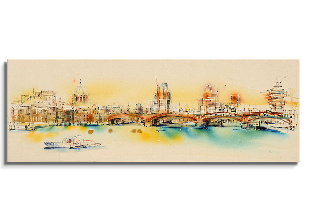 Westminster Panoramic - Orignal painting by Rachael Dalzell