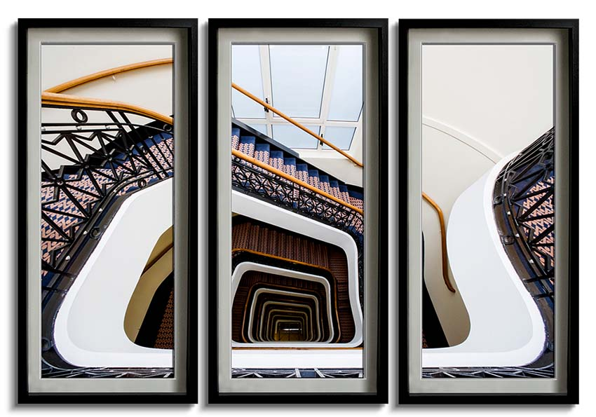 The Snail stairwell - Triptych  by Joas Souza