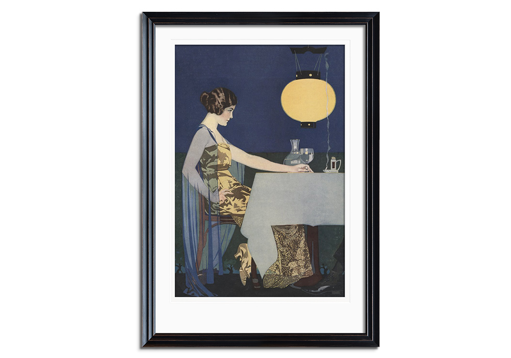 Woman at the table by Coles Phillips