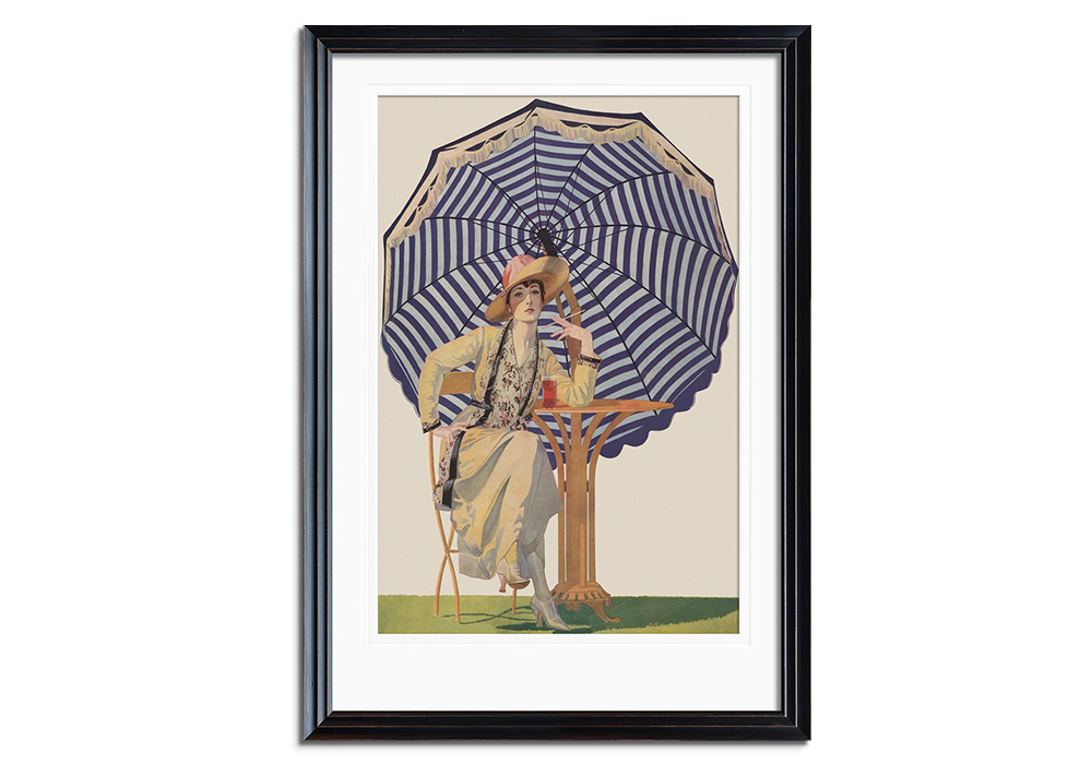 Woman under Umbrella by Coles Phillips