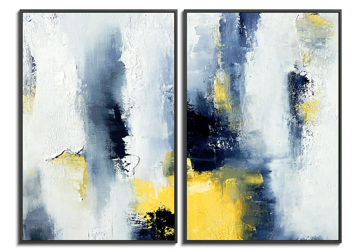 Summer Diptych >> Thoughts Of Summer Diptych Olena Topliss 1703