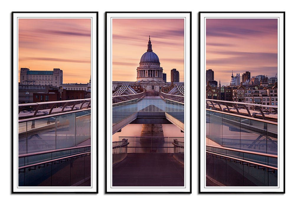 Millennium Bridge leading to St Paul by Roland Shainidze