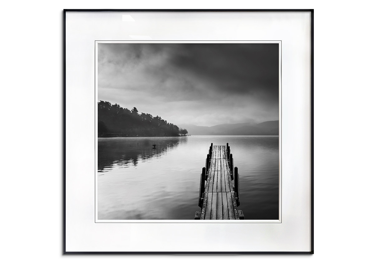 Lake with Pier II by George Digalakis