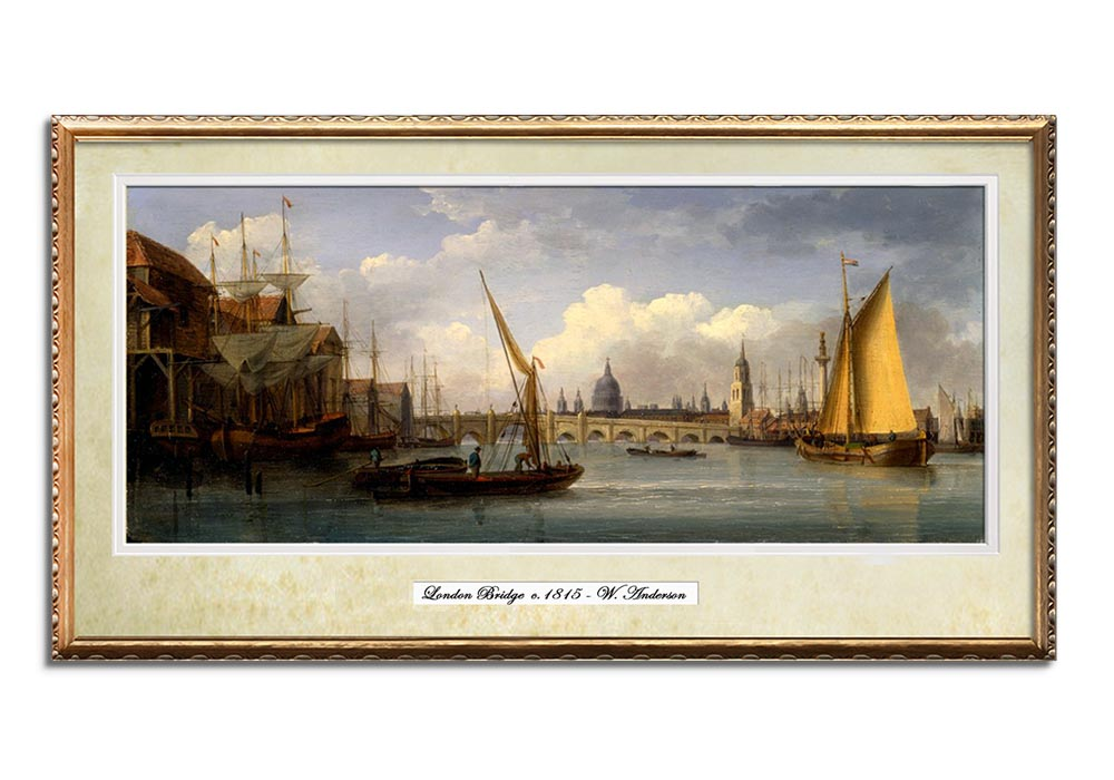 View of London Bridge by William Anderson