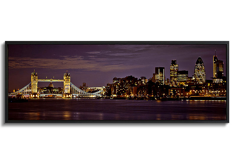 Tower Bridge - Panoramic canvas  by Assaf Frank