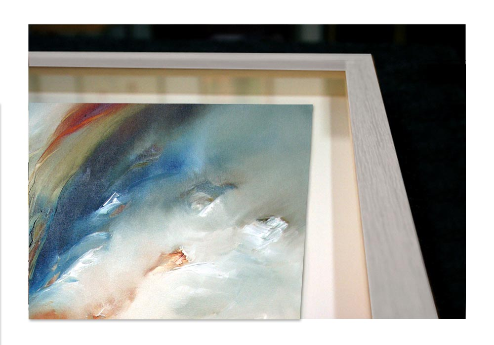 Span - Floating framed print  by Alison Johnson