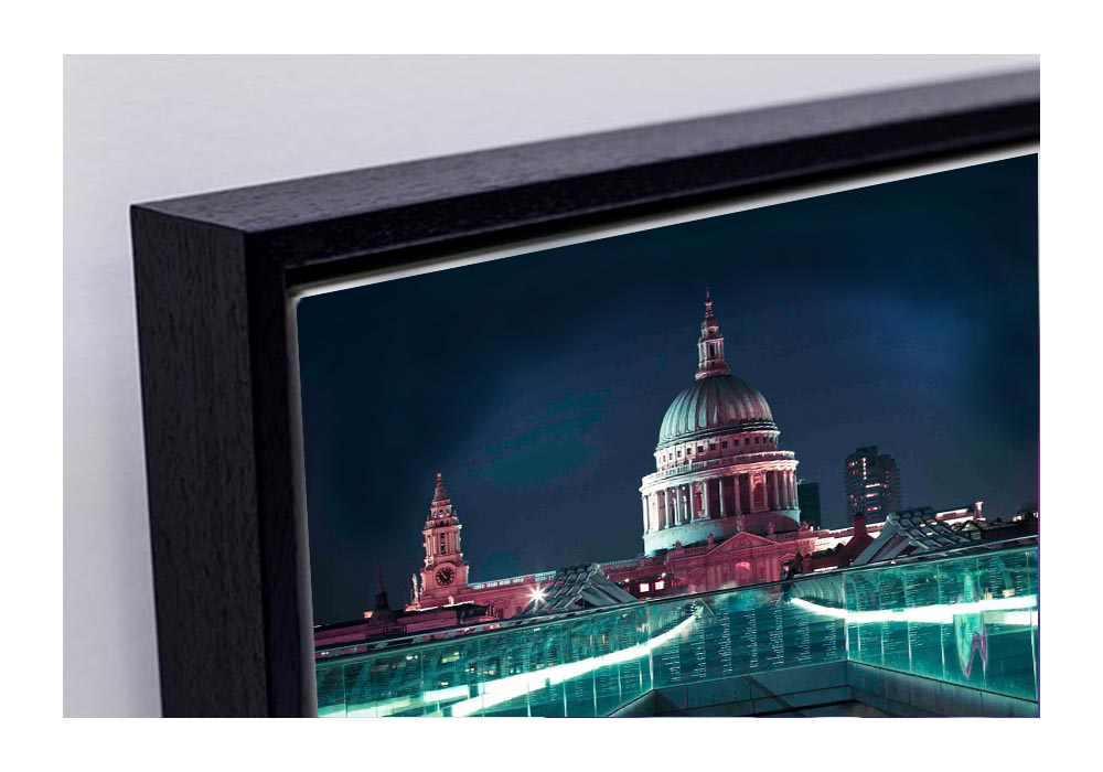 Framed Canvas Triptych of St. Pauls  by Assaf Frank