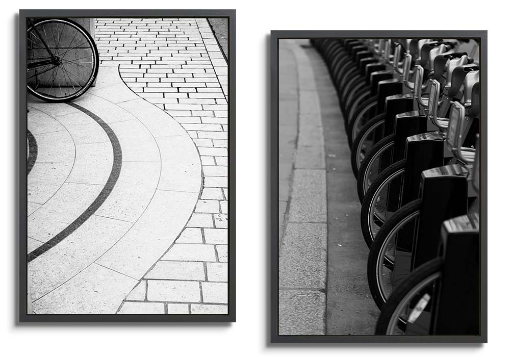 London Black & White abstract set  by Chris Shepherd