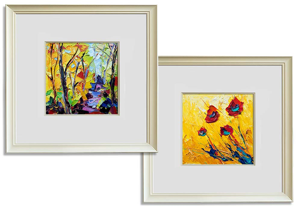 Abstract pallet knife prints  by Joe Armstrong