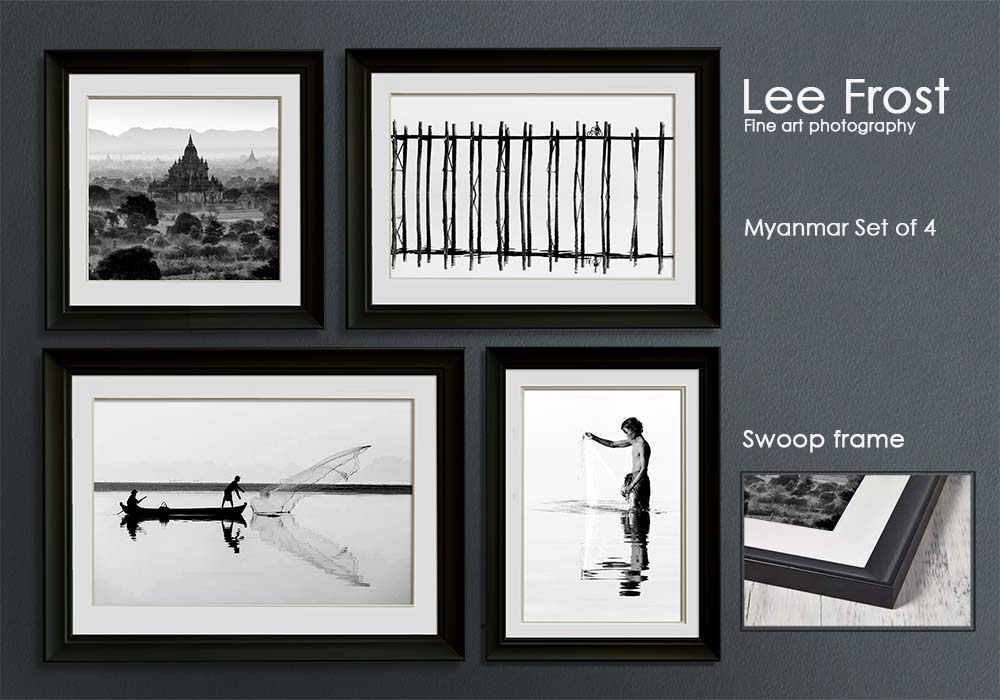 Myanmar set of 4  by Lee Frost