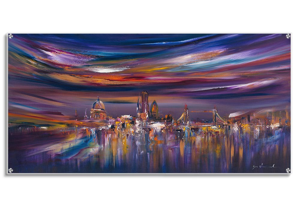 Contemporary London cityscape  by Sara Sherwood