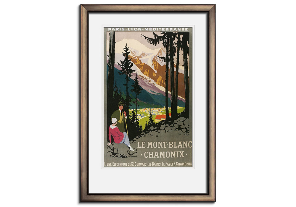 Travel Poster for Chamonix by Foundimage Press