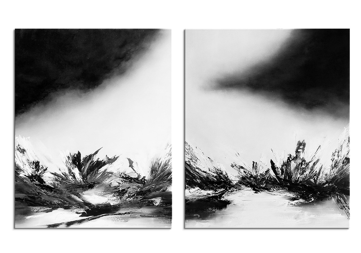 Monochrome Diptych by Olena Topliss