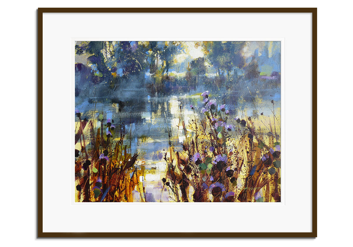 Thistles and River Reflections by Chris Forsey