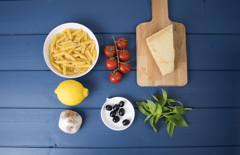 Penne au basilic et aux tomates