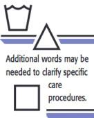 Apparel and textile care symbols 2
