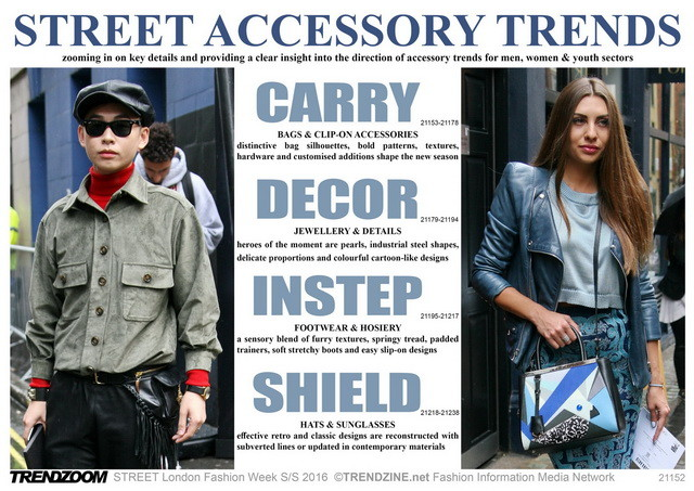 #Trendzoom on #WeConnectFashion, accessories street style, SS 2016 overview