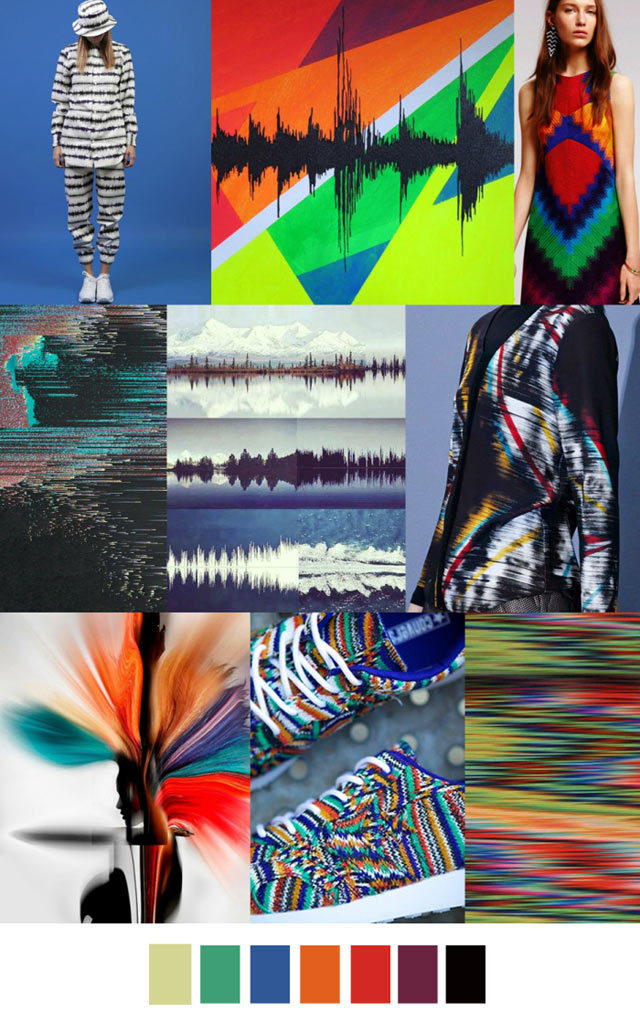 #PatternCurator on #WeConnectFashion, Soundwaves #trendboard.