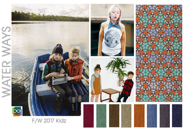 #DesignOptions FW 17/18 color report on #WeConnectFashion, Kid's mood: Water Ways.