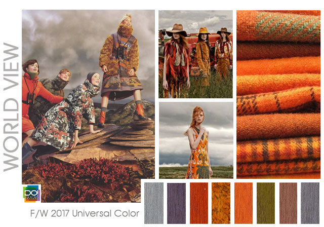 #DesignOptions FW 17/18 color report on #WeConnectFashion, Women's mood: World View.
