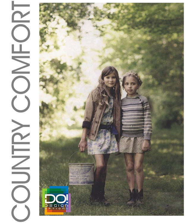 #DesignOptions color trend report on #WeConnectFashion, Children's SS17, Country Comfort mood board