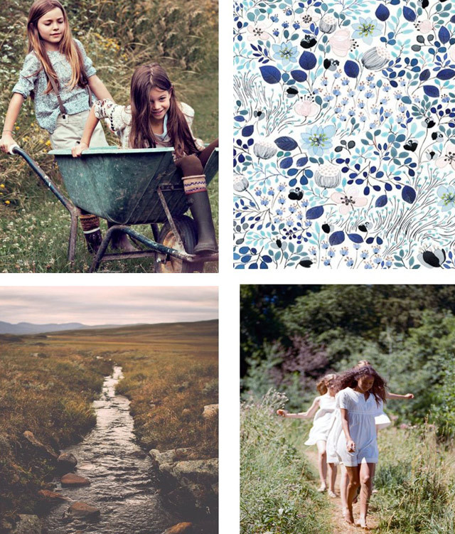 #DesignOptions color trend report on #WeConnectFashion, Children's SS17, Country Comfort mood board details