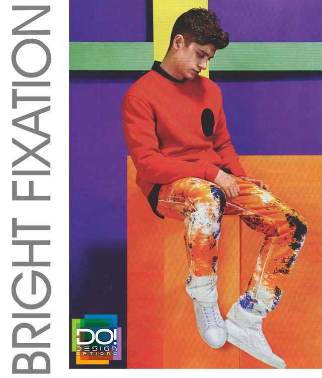 #DesignOptions color trend report on #WeConnectFashion, Men's SS17, Bright Fixation mood board