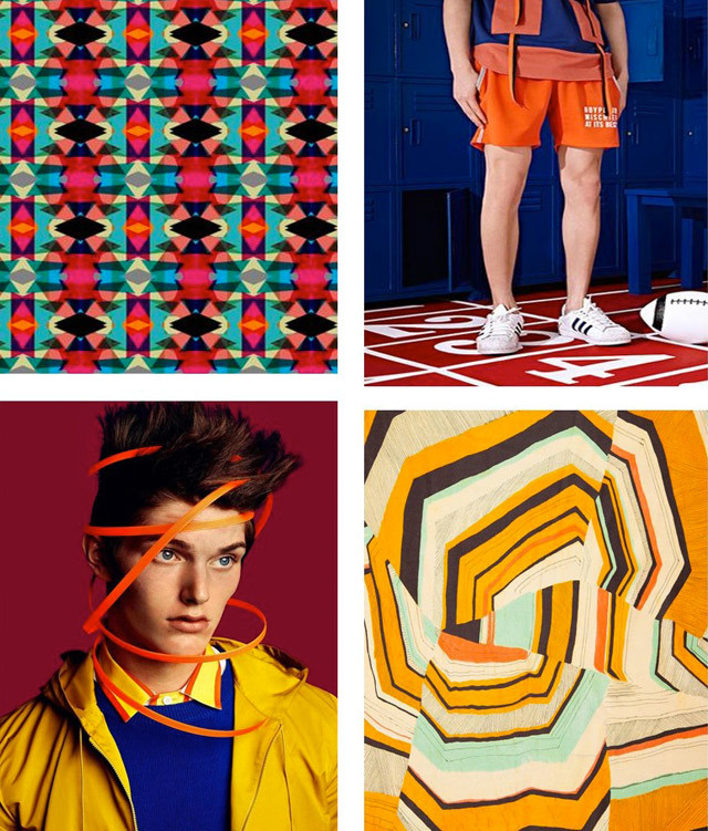 #DesignOptions color trend report on #WeConnectFashion, Men's SS17, Bright Fixation mood board details