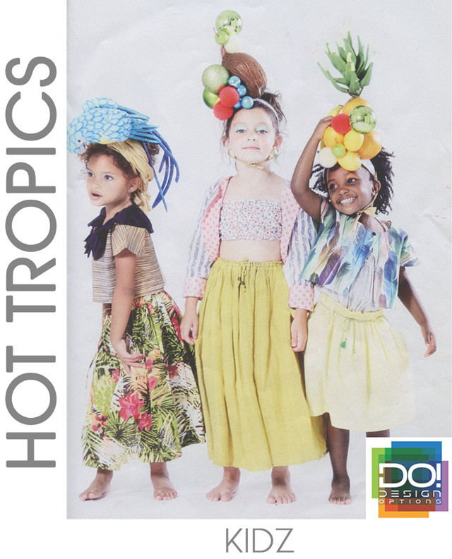 #DesignOptions SS17 color report on #WeConnectFashion, Children's Girls mood: Hot Tropics.