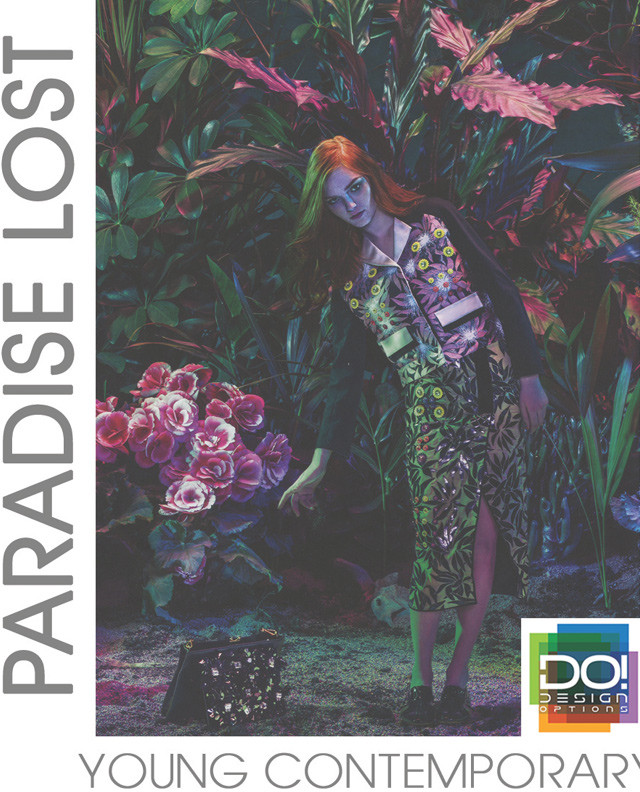 #DesignOptions SS17 color report on #WeConnectFashion, Contemporary Women's mood: Paradise Lost.
