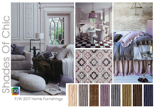 #DesignOptions FW 17/18 color on #WeConnectFashion, Home Furnishing's: Shades of Chic.