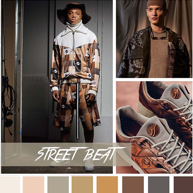#DesignOptions FW18/19 color report on #WeConnectFashion, Contemporary Activewear Mood: Street Beat.