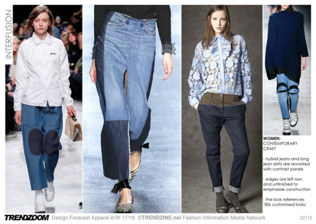 #Trendzine A/W 17-18 trends on #WeConnectFashion. Women's Denim: Interfusion mood