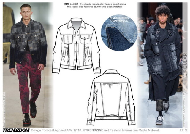 #Trendzine A/W 17-18 trends on #WeConnectFashion. Men's Denim: Circular.