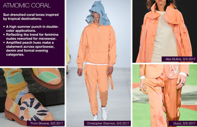 #Trendstop SS17 Mens Color on #WeConnectFashion. Key Essential Theme: Summer Rain