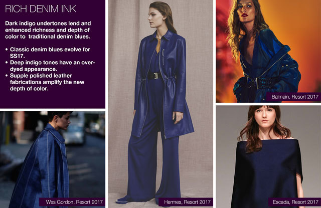 #Trendstop SS17 Color Women in #WeConnectFashion. essential key issue: Ink-rich denim