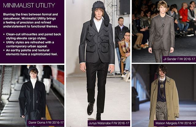 #Trendstop Essential F/W 2018 theme on #WeConnectFashion. Menswear Trend: Minimalist Utility, overview