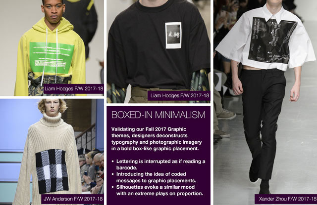 #Trendstop Runway F/W 2018 trends on #WeConnectFashion. Menswear Directions: Boxed-In Minimalism